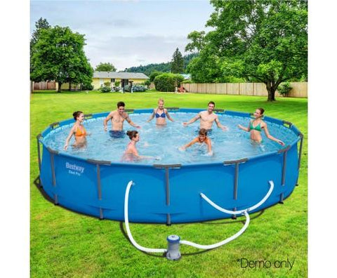 Bestway Steel Pro Round Frame Pool With Pump - 4.27m