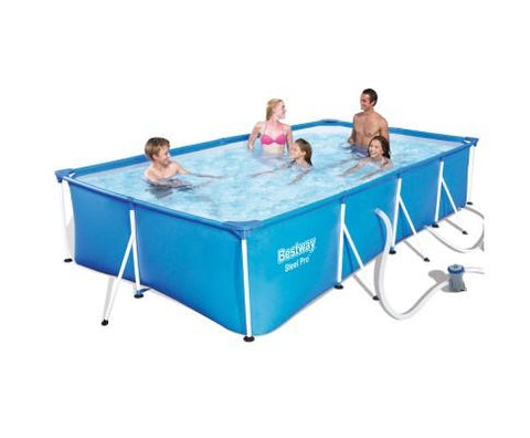 Bestway Rectangular Steel Frame Swimming Pool 4 x 2.11m