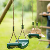 Plum Gibbon Wooden Swing Set - Swing and Play - 2
