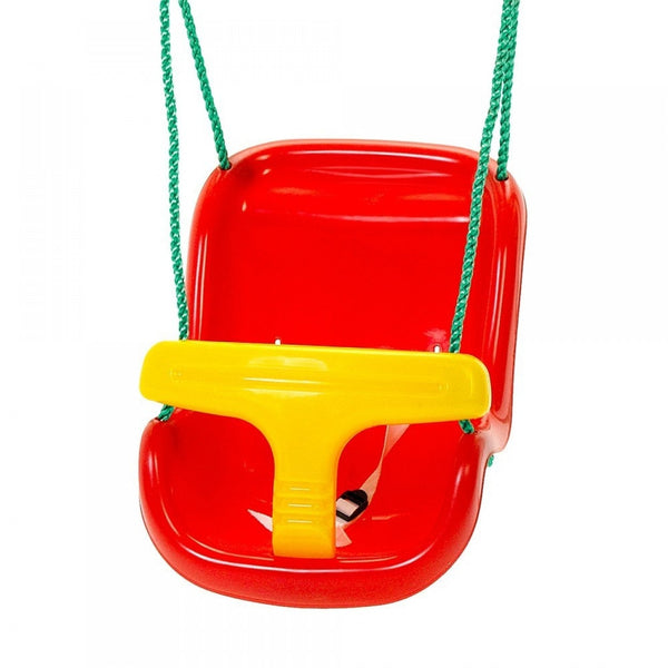 Plum Red & Yellow Baby Swing Seat - Swing and Play