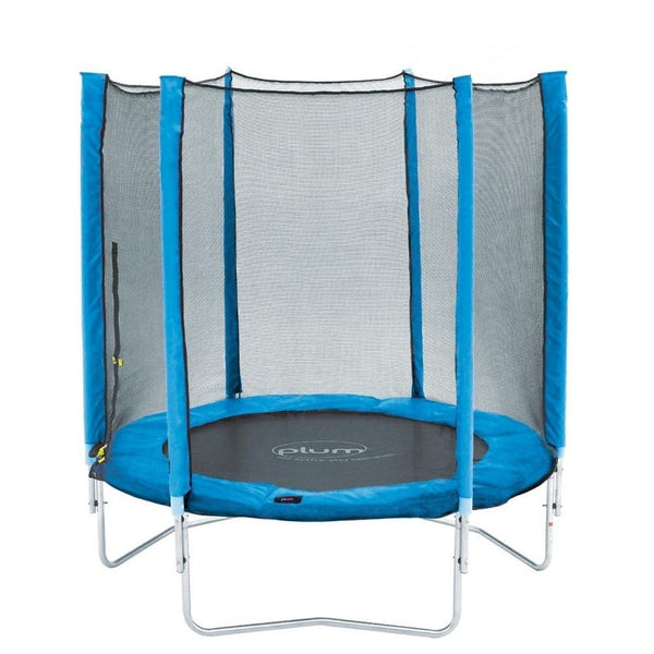 Plum 6ft Junior Trampoline & Enclosure - Blue - Swing and Play - 1