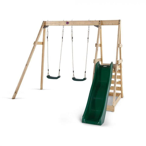 Plum Tamarin Wooden Swing Set