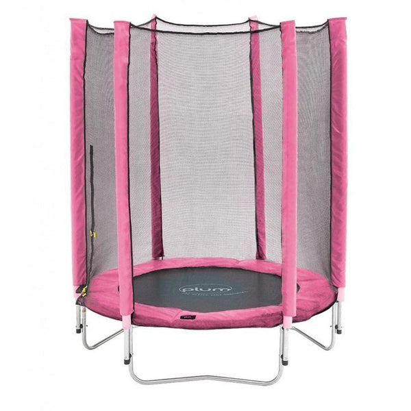 Plum 4.5ft Junior Trampoline & Enclosure - Pink - Swing and Play - 1