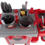 Mini Chef Kitchen & Cookware Set - Red