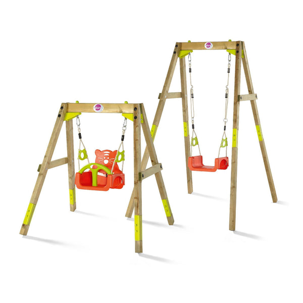 Plum Wooden Growing Swing Set - Swing and Play - 1