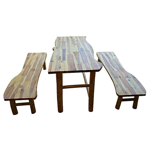 Qtoys Hardwood Tree Table and Benches