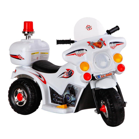 Patrol Electric Ride on Motorbike - White