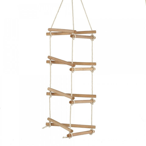 Plum Side Rope Ladder Swing Accessory - Lime Hangers
