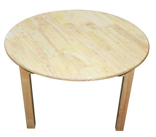 Qtoys Rubber Wood Round Table - Large