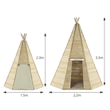 Plum Grand Wooden Teepee Hideaway 3.3m