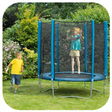 Plum 6ft Junior Trampoline & Enclosure - Blue - Swing and Play - 2