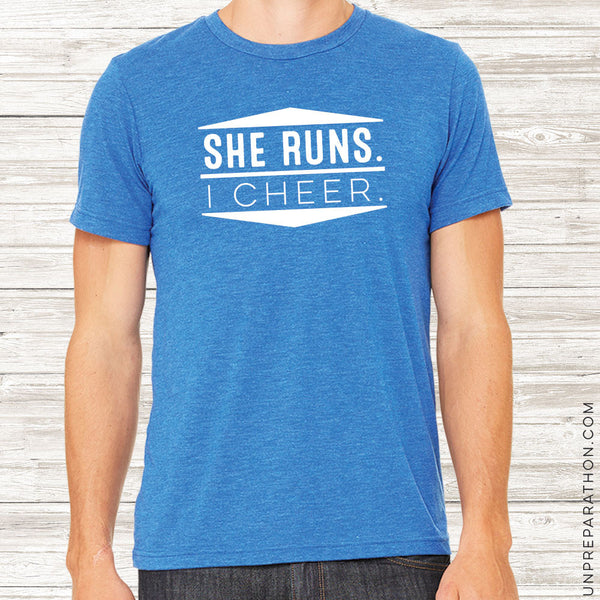 SHE RUNS. I CHEER.