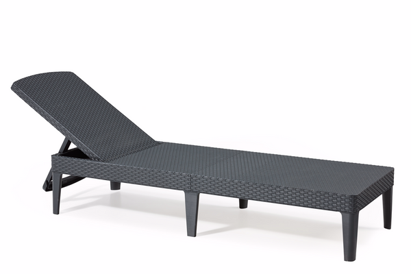Keter Jaipur Rattan Sun Lounger Chair - Graphite
