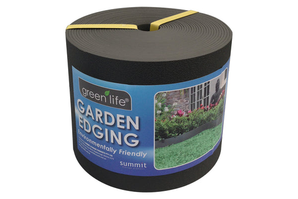 Greenlife Recycled Plastic Garden Edging - 10m x 150mm - Black
