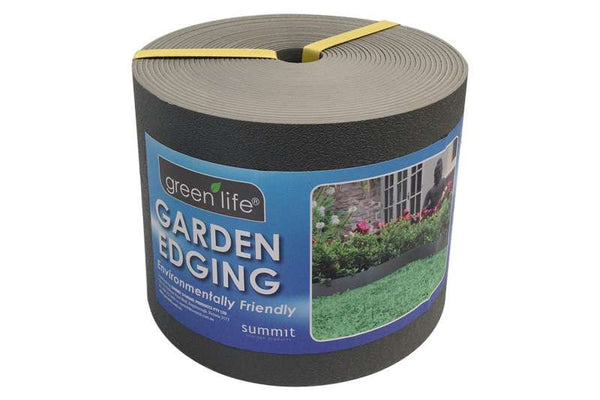 Greenlife Plastic Garden Edging - 10m x 150mm - Slate Grey