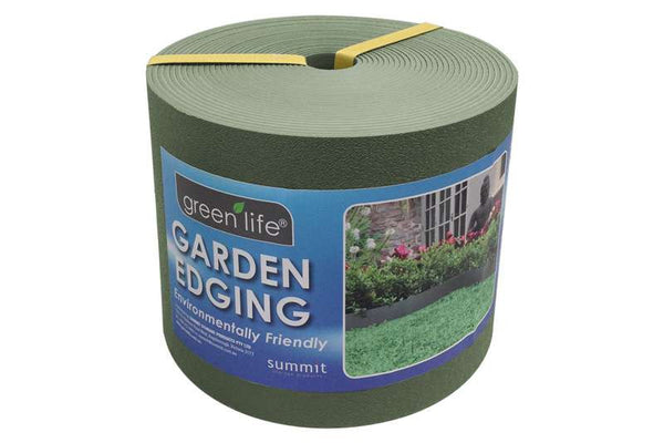 Greenlife Plastic Garden Edging - 10m x 150mm - Eucalypt Green