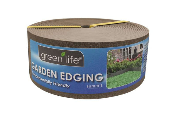 Greenlife Plastic Garden Edging - 10m x 75mm - Stone Brown