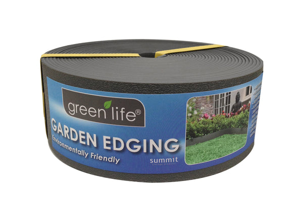 Greenlife Recycled Plastic Garden Edging - 10m x 75mm - Black
