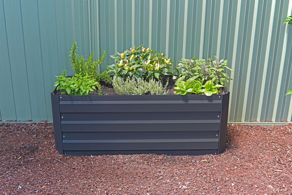 Greenlife Slimline Raised Garden Bed - 1200 x 450 x 450mm - Charcoal