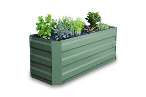 Greenlife Slimline Raised Garden Bed - 1200 x 450 x 450mm - Eucalypt Green
