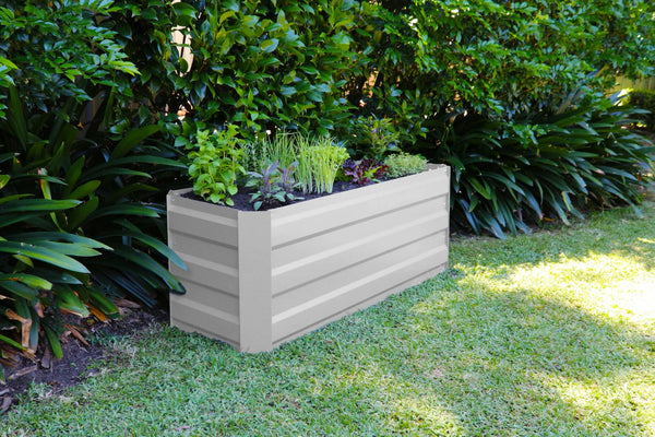 Greenlife Slimline Raised Garden Bed - 1200 x 450 x 450mm - Vintage White