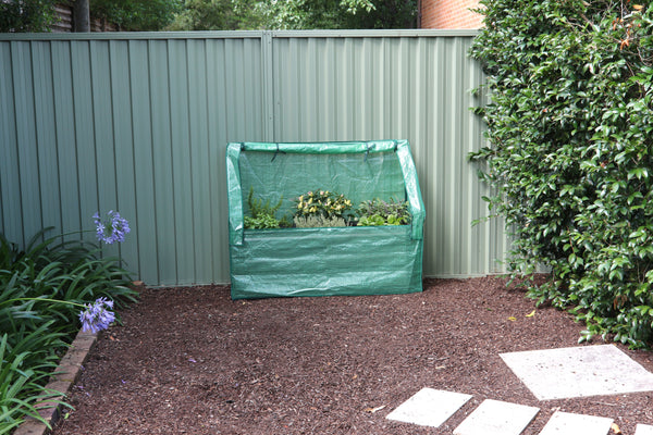 Greenlife Lean-To Drop Over Greenhouse with PE Cover - 1250 x 500 x 990mm