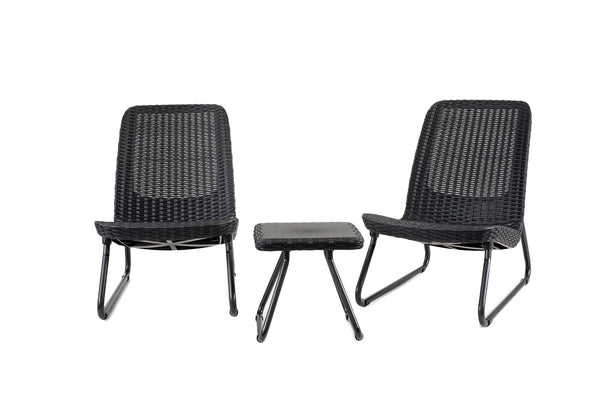 Keter Rio Outdoor Balcony and Patio Set - Graphite