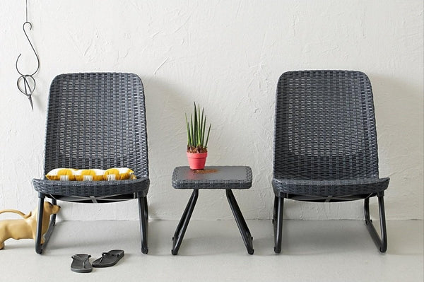 Keter Rio Patio Set - Graphite