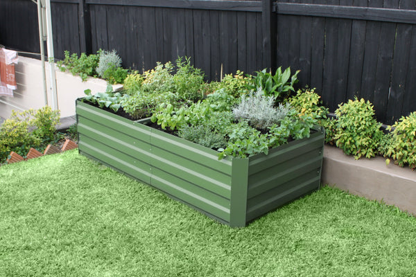 Greenlife Large Raised Garden Bed - 1800 x 900 x 450mm - Eucalypt Green
