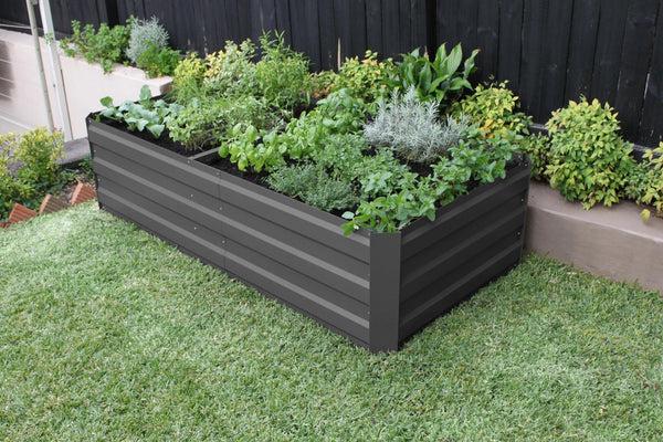 Greenlife Large Raised Garden Bed - 1800 x 900 x 450mm - Charcoal