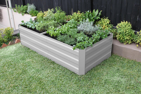 Greenlife Large Raised Garden Bed with Support Braces - 1800 x 900 x 450mm - Vintage White