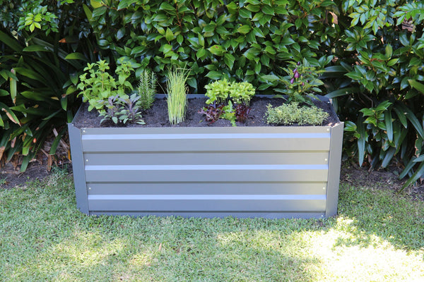 Greenlife Slimline Raised Garden Bed - 1200 x 450 x 450mm - Slate Grey