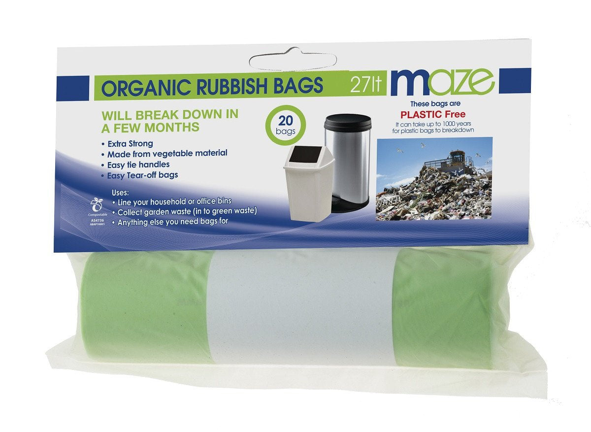 27L Compostable Organic Rubbish Bags - 20 pack - Greenlife