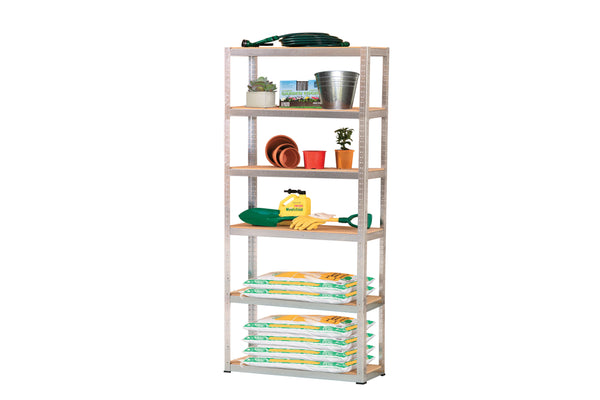 Hammer Lok HLS407 Garage Steel Shelving - 2100 x 1140 x 400mm