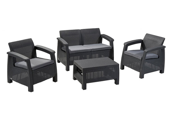 Keter Corfu 4 Seater Lounge Set