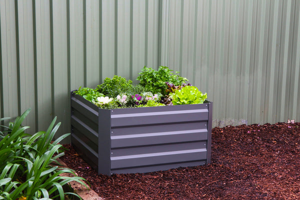 Greenlife Square Raised Garden Bed - 850 x 850 x 450mm - Slate Grey