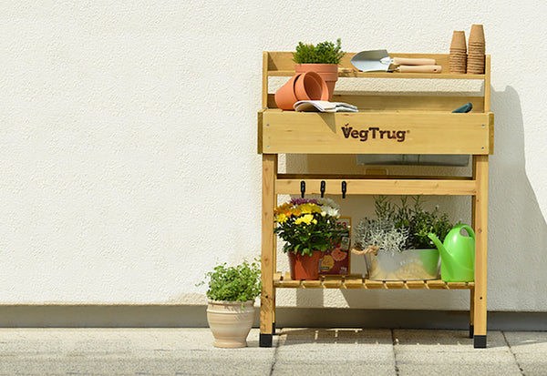 VegTrug Wooden Potting Bench - Natural