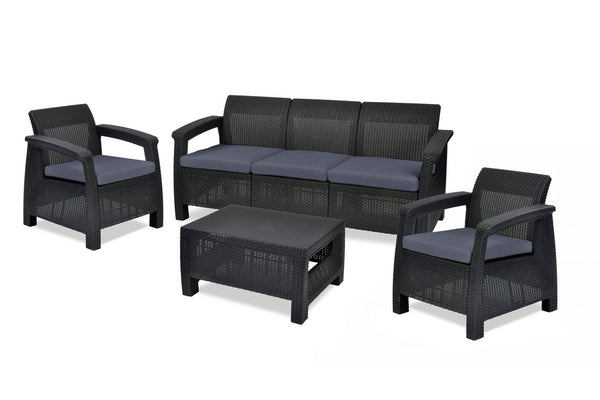 Keter Corfu 5 Seater Lounge Set