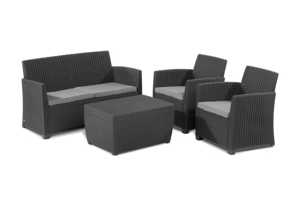 Keter Corona Lounge Set - Graphite