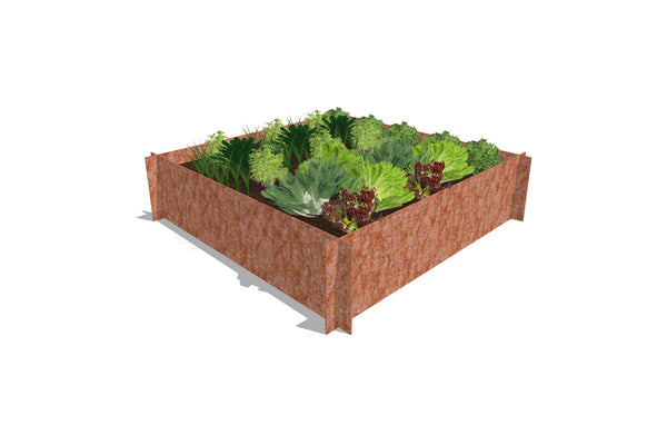 Greenlife Corten Steel Raised Garden Bed - 1200 x 1200 x 295mm