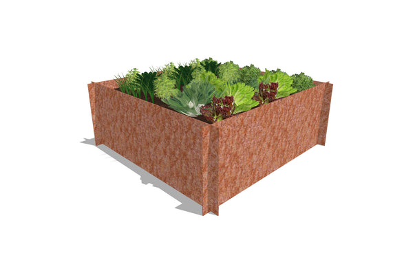 Greenlife Corten Steel Raised Garden Bed - 1200 x 1200 x 450mm