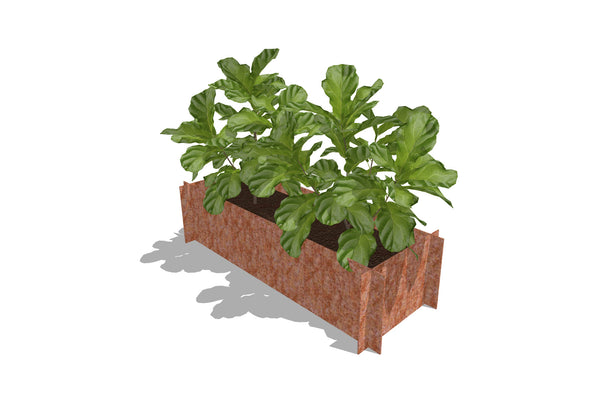 Greenlife Corten Steel Raised Garden Bed - 1200 x 450 x 295mm