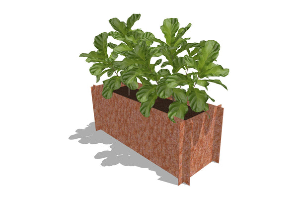 Greenlife Corten Steel Raised Garden Bed - 1200 x 450 x 450mm