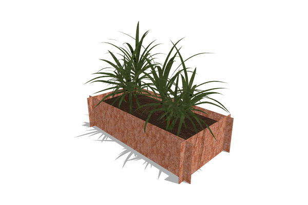 Greenlife Corten Steel Raised Garden Bed - 1200 x 600 x 295mm