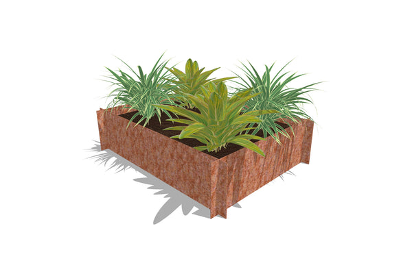 Greenlife Corten Steel Raised Garden Bed - 1200 x 900 x 295mm