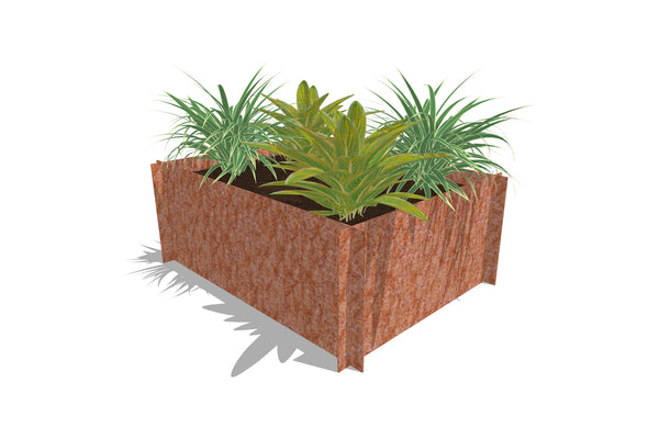 Greenlife Corten Steel Raised Garden Bed - 1200 x 900 x 450mm