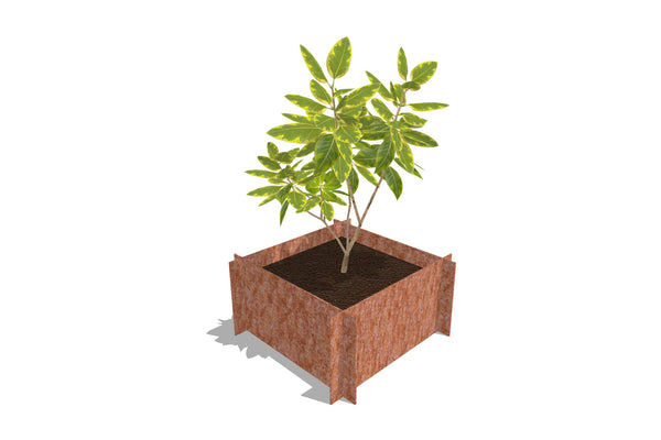 Greenlife Corten Steel Raised Garden Bed - 600 x 600 x 295mm