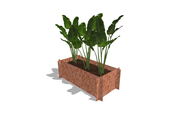 Greenlife Corten Steel Raised Garden Bed - 900 x 450 x 295mm