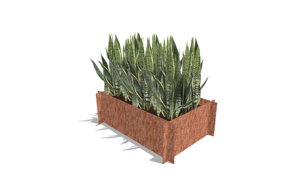 Greenlife Corten Steel Raised Garden Bed - 900 x 600 x 295mm