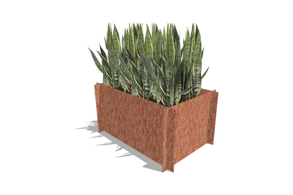 Greenlife Corten Steel Raised Garden Bed - 900 x 600 x 450mm